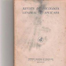 Coleccionismo de Revista Cambio 16: REVISTA DE PSICOLOGIA GENERAL Y APLICADA - VOL IV - Nº 12 - . Lote 16971703