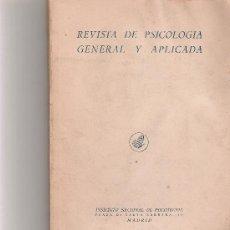 Coleccionismo de Revista Cambio 16: REVISTA DE PSICOLOGIA GENERAL Y APLICADA - VOL IV - Nº 11 - . Lote 16971842