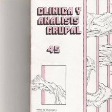 Coleccionismo de Revista Cambio 16: CLINICA Y ANALISIS GRUPAL Nº 45. Lote 16972620