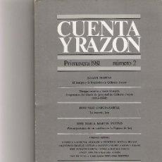 Coleccionismo de Revista Cambio 16: CUENTA Y RAZON Nº 2. Lote 16972784