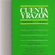 Coleccionismo de Revista Cambio 16: CUENTA Y RAZON Nº 1. Lote 16972791