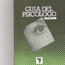 Coleccionismo de Revista Cambio 16: GUIA DEL PSICOLOGO Nº 88. Lote 16973345