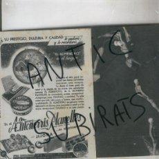 Coleccionismo de Revista Cambio 16: REVISTA MEDITERRANEO. AÑO 1954. PUBLICIDAD DE TURRON. JIJONA. XIXONA. A. MONERRIS PLANELLES.TORTAS. . Lote 17030606