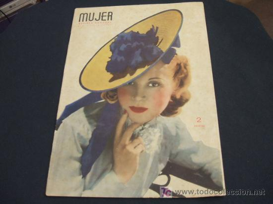 MUJER REVISTA MENSUAL- JULIO 1.941 - NUMERO 49 (Coleccionismo - Revistas y Periódicos Modernos (a partir de 1.940) - Revista Cambio 16)