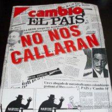 Coleccionismo de Revista Cambio 16: CAMBIO 16 - REVISTA - Nº 1038 - 14 OCTUBRE 1991 - CAMBIO 16 EL PAIS NO NOS CALLARAN. Lote 27238340