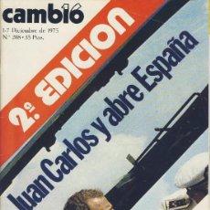 Coleccionismo de Revista Cambio 16: REVISTA CAMBIO 16-Nº 208 DIC.,.1975 -2ª EDICION,JUAN CARLOS Y ABRE ESPAÑA-ESPAÑA PIDE LIBERTAD*. Lote 21700137