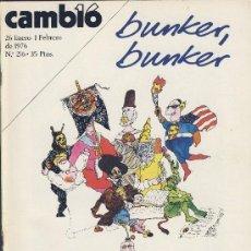 Coleccionismo de Revista Cambio 16: REVISTA CAMBIO 16-Nº 216-ENERO.1976 -BUNKER-BUNKER-EN PELIGRO-LA VUELTA A LA VIOLENCIA-*. Lote 21704627