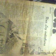 Coleccionismo de Revista Cambio 16: PERIODICO ANTIGUO CNT BARCELONA 1978 Nº 1 ORGANO DE LA CONFEDERACION NACIONAL DE TRABAJO . Lote 16855112