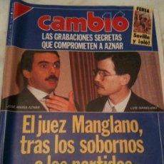 Coleccionismo de Revista Cambio 16: REVISTA CAMBIO16-23 ABRIL 1990 Nº961-MANGLANO DESTAPA DINERO ILEGAL-GRABACIONES DE AZNAR-IRAK AMENA. Lote 25319244