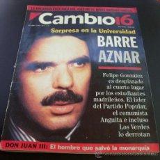 Coleccionismo de Revista Cambio 16: CAMBIO 16 - Nº 1116 - 12 ABRILE 1993 - AZNAR. Lote 26111317