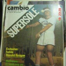 Coleccionismo de Revista Cambio 16: CAMBIO 16 REVISTA Nº 524 AÑO 1981 - TEMA : SOLEDAD BECERRIL - RONALD REAGAN. Lote 26228157