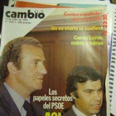 Coleccionismo de Revista Cambio 16: CAMBIO 16 REVISTA Nº 554 AÑO 1982 - TEMA : ASI GOBERNARA FELIPE GONZALEZ. Lote 26228160