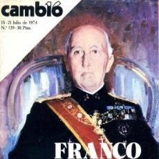 Coleccionismo de Revista Cambio 16: CAMBIO 16 JULIO DE 1974. Lote 26552293