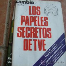 Coleccionismo de Revista Cambio 16: CAMBIO 16. DICIEMBRE 77, NÚM 311 LOS PAPELES SECºRETOS DE TV.. Lote 27691265