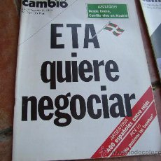 Coleccionismo de Revista Cambio 16: CAMBIO 16. JAGOSTO 76. NÚM 246. ETA QUIERE NEGOCIAR.. Lote 27696608