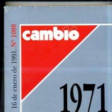 Coleccionismo de Revista Cambio 16: CAMBIO 16 EXTRA VEINTE AÑOS - 1971/1991 -468 PÁGINAS . Lote 27836213
