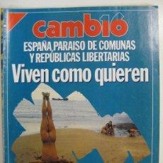 Coleccionismo de Revista Cambio 16: REVISTA CAMBIO 16 -Nº 926 28 AGOSTO 1989 ESPAÑA PARAISO DE COMUNAS.EXTRA ASSUMPTA SERRA. Lote 28683233