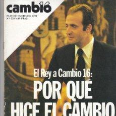 Coleccionismo de Revista Cambio 16: REVISTA CAMBIO 16. Lote 29166021
