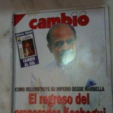 Coleccionismo de Revista Cambio 16: CAMBIO 16 Nº979 27-08-1990 KASHOGUI REGRESA A MARBELLA, OPUS DEI GANA TERRENO A FRAGA. Lote 30369910