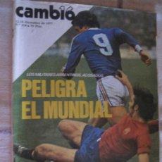 Coleccionismo de Revista Cambio 16: CAMBIO 16 - 12/18 DICIEMBRE 1977 - NUM. 314 - LOS MILITARES ARGENTINOS ACOSADOS: PELIGRA EL MUND.. Lote 105985827