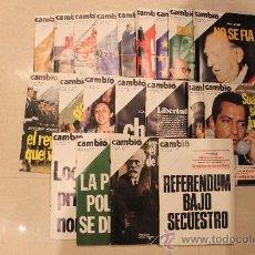 Coleccionismo de Revista Cambio 16: REVISTAS CAMBIO 16 - 1976. Lote 34176379