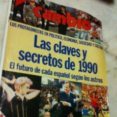 Coleccionismo de Revista Cambio 16: CAMBIO 16 Nº945 11-1-1990 CLAVES Y SECRETOS DEL 1990-NORIEGA-PARADOS-RUMANIA-FELIPE GONZÁLEZ-ETC. Lote 34941242