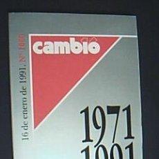 Coleccionismo de Revista Cambio 16: CAMBIO 16 Nº 1000. 100 SEMANAS QUE HACEN HISTORIA. 1971-1991. VV.AA. 16 DE ENERO DE 1991. Lote 29607432