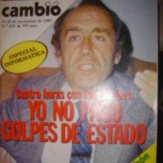 Coleccionismo de Revista Cambio 16: CAMBIO 16 AÑO 83 Nº625/RUIZ MATEOS: YO NO PAGO GOLPES DE ESTADO. Lote 36335974