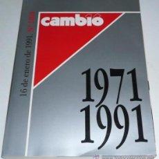 Coleccionismo de Revista Cambio 16: CAMBIO 16 Nº 1000 NÚMERO EXTRA (16 ENERO 1991) 100 SEMANAS QUE HACEN HISTORIA. Lote 36499328