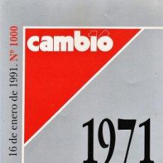Coleccionismo de Revista Cambio 16: 16 DE ENERO DE 1991 - ESPECIAL Nº 1000 - CAMBIO16 / CAMBIO 16 -1971-1991 - . Lote 36695766