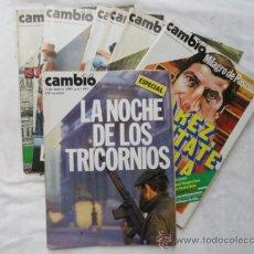 Coleccionismo de Revista Cambio 16: 7 EJEMPLARES DE LA REVISTA - CAMBIO 16 -. AÑOS 1978/81.. Lote 43214544