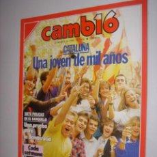 Coleccionismo de Revista Cambio 16: CAMBIO 16 AÑO 1988 Nº 856( ENCUESTA MUNDIA ? QUIÉN TEME AL SIDA FEROZ?. Lote 38578859