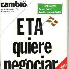 Coleccionismo de Revista Cambio 16: CAMBIO 16. .AÑO 1976 Nº 246. ETA QUIERE NEGOCIAR-. Lote 38432444