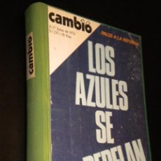 Coleccionismo de Revista Cambio 16: OJO CAMBIO 16 / TOMO DE 14 REVISTA ENCUADERNADAS / VER DESCRIPCION. Lote 39920220
