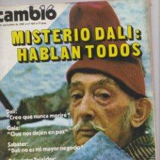Coleccionismo de Revista Cambio 16: REVISTA CAMBIO 16 AÑO 1981 LOTE QUINCE REVISTAS ***DALI. Lote 40898718