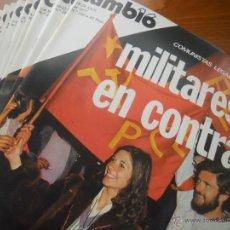 Coleccionismo de Revista Cambio 16: CAMBIO 16. LOTE 17 NÚMEROS. 1977. TRANSICIÓN, SUÁREZ, PCE.... Lote 43373103