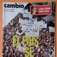 Coleccionismo de Revista Cambio 16: CAMBIO 16. EL PAÍS SE MANIFIESTA. 5-11 JULIO DE 1976. Nº 239 - DIVERSOS AUTORES. Lote 43542020