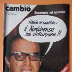 Coleccionismo de Revista Cambio 16: CAMBIO 16. ECONOMÍA: EL APRETÓN. 18-24 JULIO DE 1977. Nº 293 - DIVERSOS AUTORES. Lote 43542056