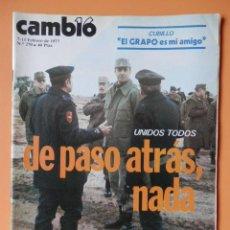 Coleccionismo de Revista Cambio 16: CAMBIO 16. UNIDOS TODOS: DE PASO ATRÁS, NADA. 7-13 FEBRERO DE 1977. Nº 270 - DIVERSOS AUTORES. Lote 43542122