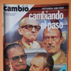 Coleccionismo de Revista Cambio 16: CAMBIO 16. REFORMA MILITAR: CAMBIANDO EL PASO. 24-30 ENERO DE 1977. Nº 268 - DIVERSOS AUTORES. Lote 43542125