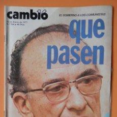 Coleccionismo de Revista Cambio 16: CAMBIO 16. EL GOBIERNO A LOS COMUNISTAS: QUE PASEN. 10-16 ENERO DE 1977. Nº 266 - DIVERSOS AUTORES. Lote 43542161