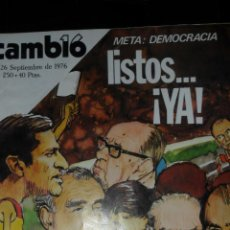 Coleccionismo de Revista Cambio 16: CAMBIO 16 Nº 250 DE 1976, META LA DEMOCRACIA, CAMILO JOSE CELA, ACTUALIDAD . Lote 44042198