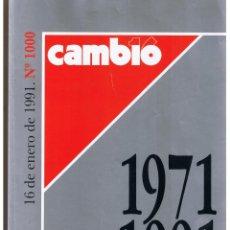 Coleccionismo de Revista Cambio 16: CAMBIO 16. Nº 1000. 16 DE ENERO 1991. (1971 - 1991)(P/B75). Lote 44742516