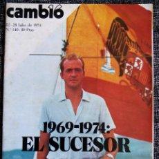 Colecionismo da Revista Cambio 16: CAMBIO 16. 22-28 JULIO DE 1974. Nº 140. 30 PTAS. 1969-1974: EL SUCESOR.. Lote 44873534