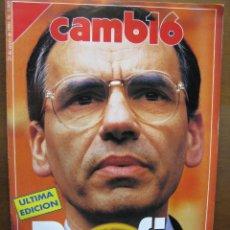 Coleccionismo de Revista Cambio 16: CAMBIO 16. POR FIN. (SOBRE LA DIMISIÓN DE ALFONSO GUERRA). 21.1.91. NRO. 1000. 20 PÁGS.. Lote 46625613