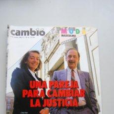 Colecionismo da Revista Cambio 16: REVISTA CAMBIO 16 Nº 724-AÑO 1985: CRISTINA ALBERDI-PABLO CASTELLANO-LA ESPAÑA GAY Y EL SIDA. Lote 46921187