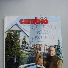 Coleccionismo de Revista Cambio 16: REVISTA CAMBIO 16 Nº 732-AÑO 1985: RUIZ MATEOS, LO TRAJERON A ESPAÑA-. Lote 46921274