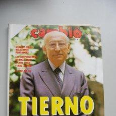 Coleccionismo de Revista Cambio 16: REVISTA CAMBIO 16 Nº 739-AÑO 1986-TIERNO-SHALOM ISRAEL-JUEZ LERGA, RUIZ MATEOS-CINE 86. Lote 46921339