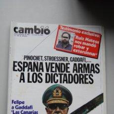 Coleccionismo de Revista Cambio 16: REVISTA CAMBIO 16 Nº 683-AÑO 1984: ESPAÑA VENDE ARMAS A PINOCHET, STROESSNER,GADDAFI-RUIZ MATEOS. Lote 46925345