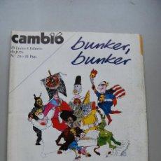 Coleccionismo de Revista Cambio 16: REVISTA CAMBIO 16 Nº 216-AÑO 1976: BUNKER, BUNKER. Lote 46938554